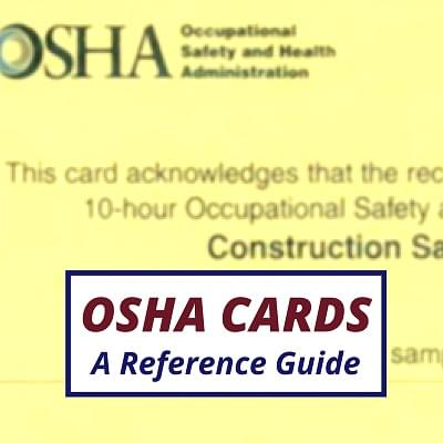 What Is An Osha Department Of Labor Card Osha Articles